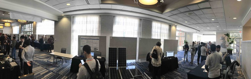 Panoramic view of student poster session